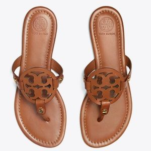 Size 9.5 Tory Burch Miller Vintage Brown Sandals